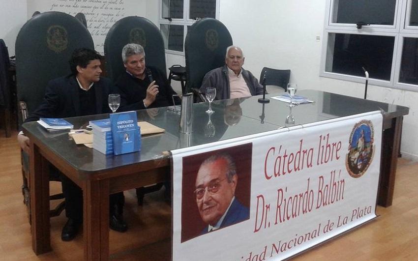 """Hipólito Yrigoyen, primer centenario de la soberanía popular (1916-2016)"" Liburuaren aurkezpena"