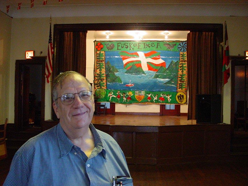 Zachary Berhau en una foto de archivo, en el salón de actos del segundo piso de EENY (foto Joseba Etxarri)