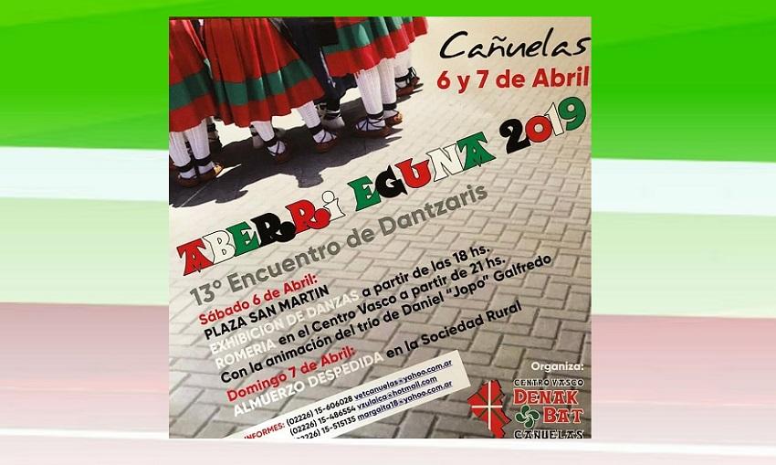Publicidad del Encuentro de Dantzaris 2019