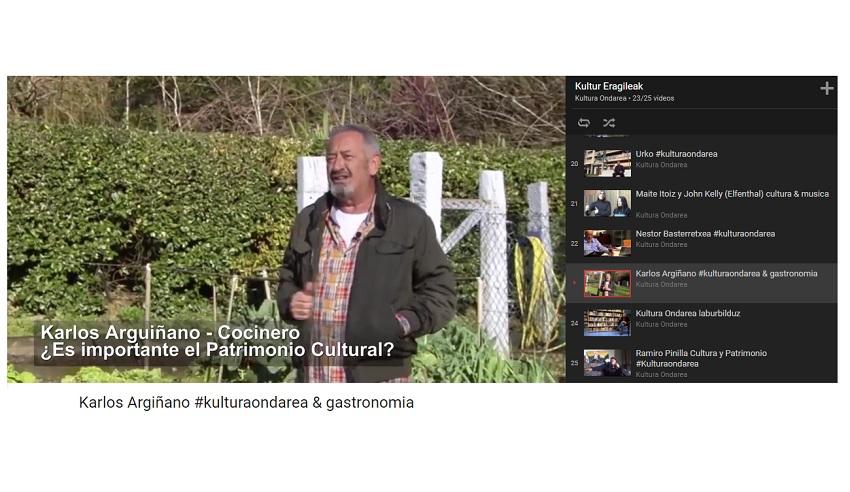 karlos Argiñano 'Kultur Eragileak' bideoetan