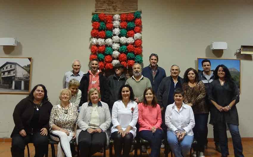 The 2017 board of directors at the Euskaldunak Denak Bat Basque Club in Arrecifes elected on April 22nd