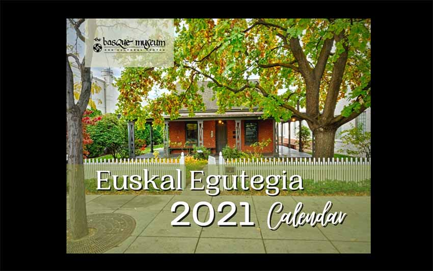 Euskal Egutegia Boiseko Euskal Museoa 2021