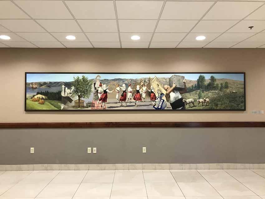 Boise euskal murala Udaletxean