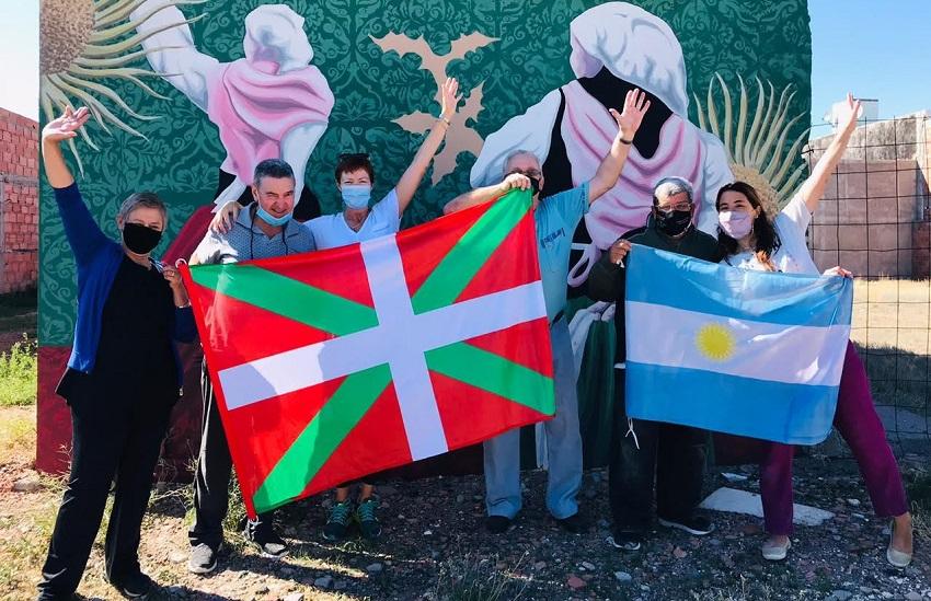 Aberri Eguna 2021 en la provincia patagónica de Chubut