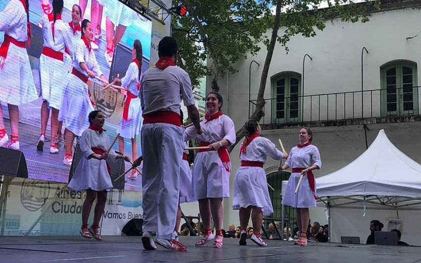 "Dantzaris from the Centro Navarro at the ""Buenos Aires Celebrates"" festival"