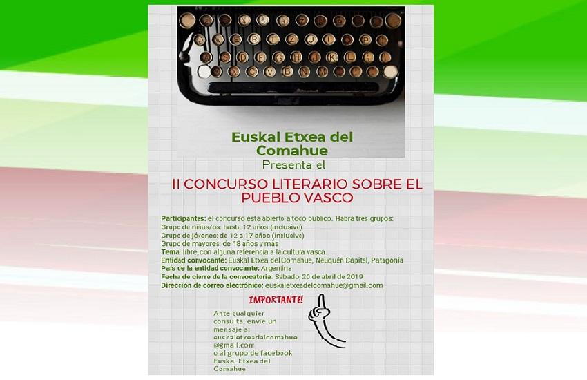 2º Concurso Literario de la Euskal Etxea del Comahue