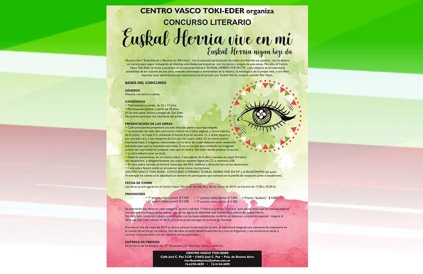 Concurso Literario 'Euskal Herria vive en mí'