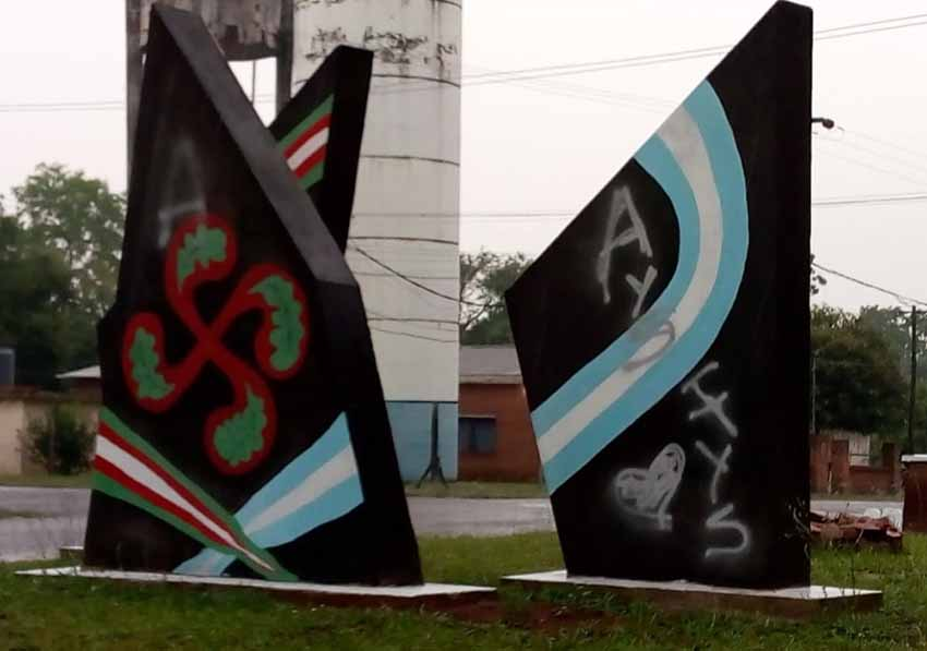 Basque mural damaged in Corpus