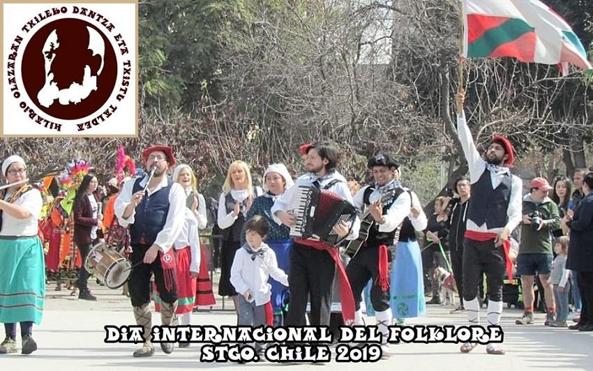 'Hilario Olazaran Txileko dantza eta txistu Taldea' 2019ko Folklore Egunean