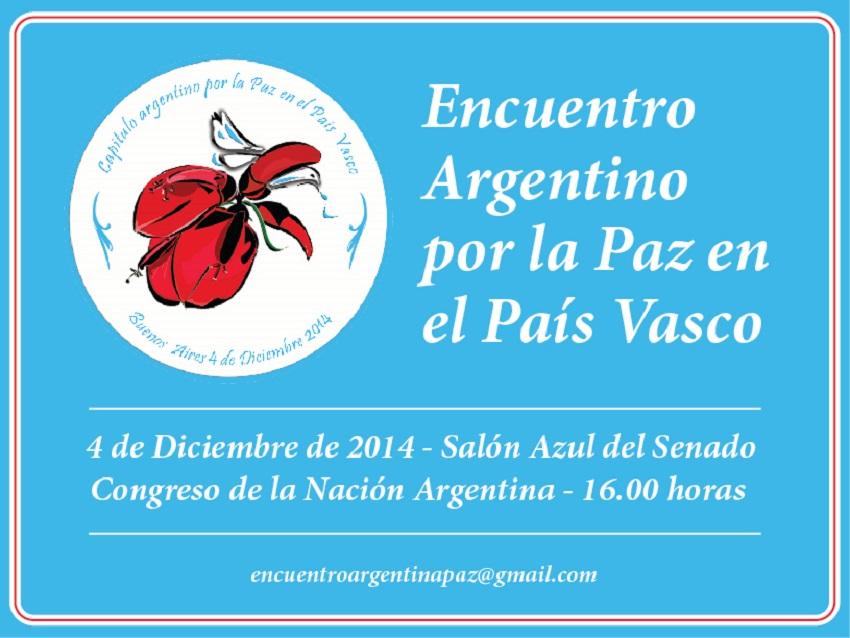 Encuentro Argentina por la Paz en el País Vasco