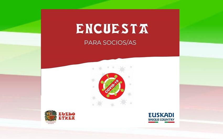 La Platako Euskal Etxearen konfinamenduari buruzko inkesta