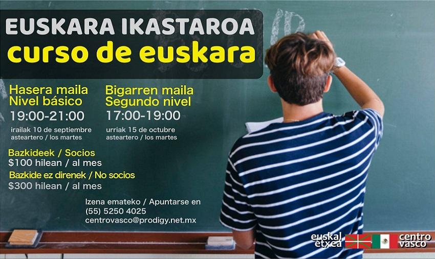 Nuevos cursos de euskera 2019-2020