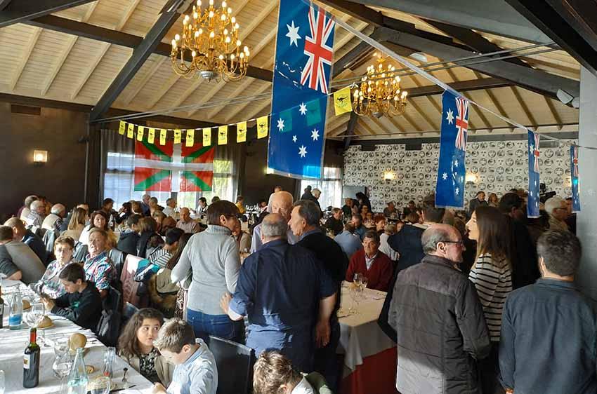 El encuentro vasco australiano del pasado año en Gernika, en el que participaron doscientos cincuenta 'aussies'