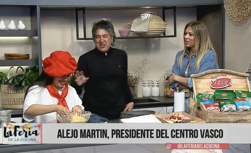 Gure Txokoa Euskal Etxeko lagunak 'La Feria de la Cocina' telesaioan