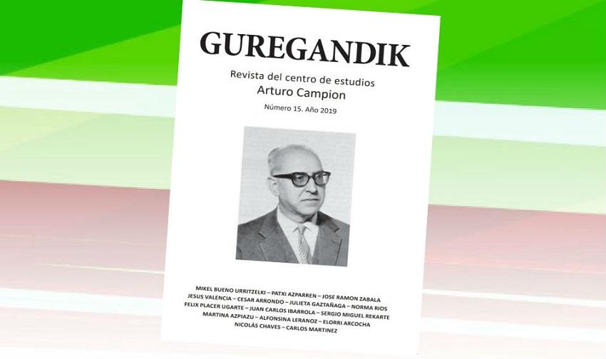 Tapa del número 15, correspondiente a 2019, de 'Guregandik'