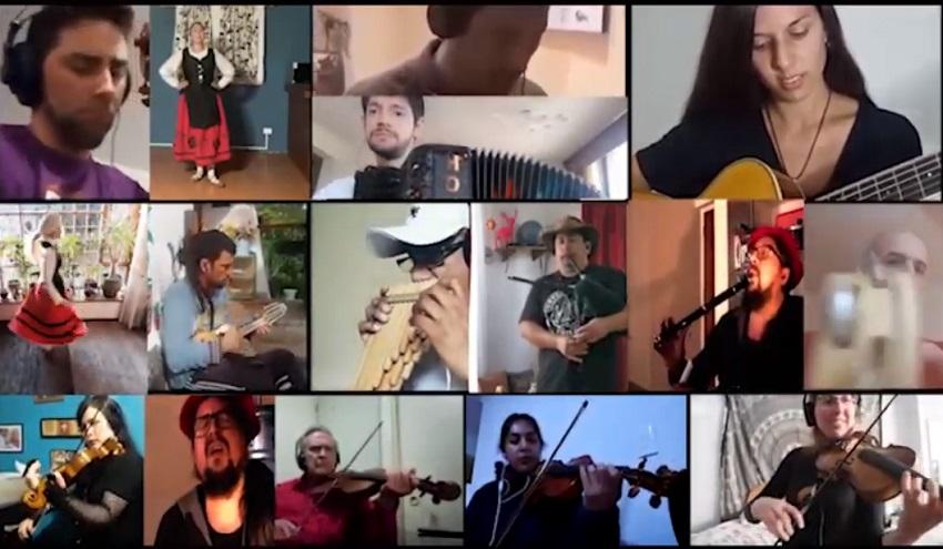 'Hilario Olazaran' taldeak bildutako musikari eta dantzariak