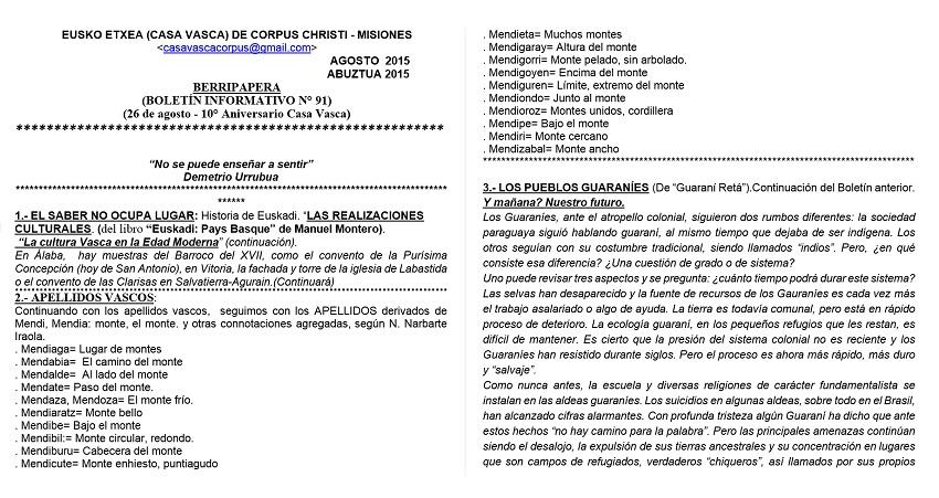 'Berripapera' Newsletter