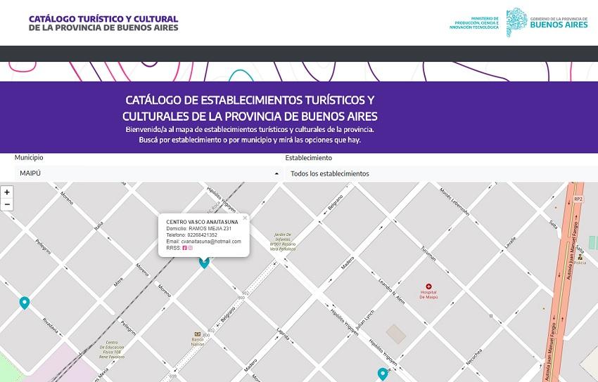 Maipuko Anaitasuna Buenos Aires Probintziako Turismo eta Kultur Katalogoan