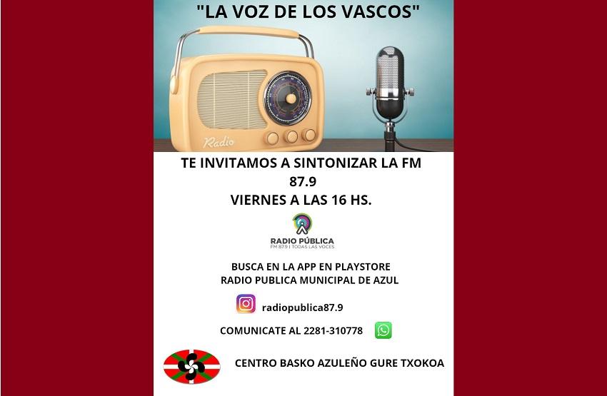 'La voz de los vascos' Irratsaioa