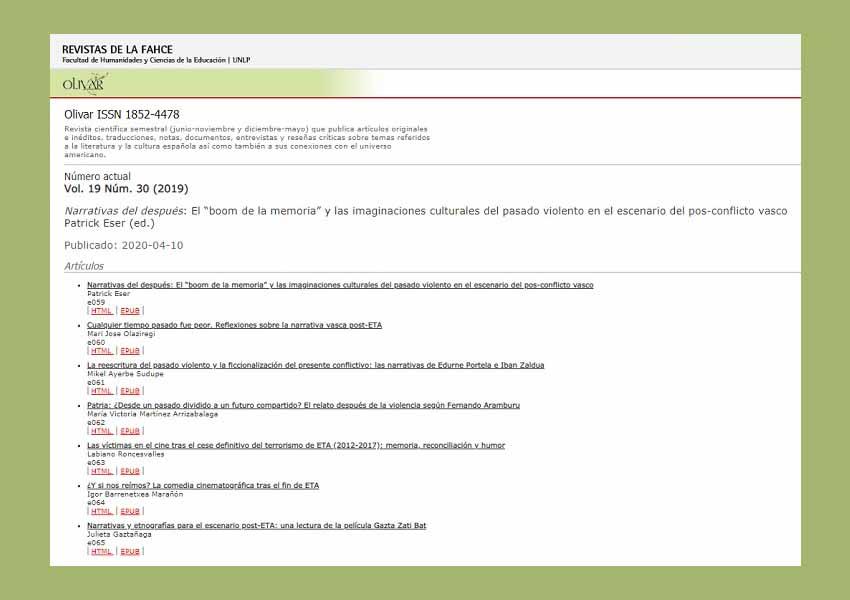 UNLP Magazine Olivar