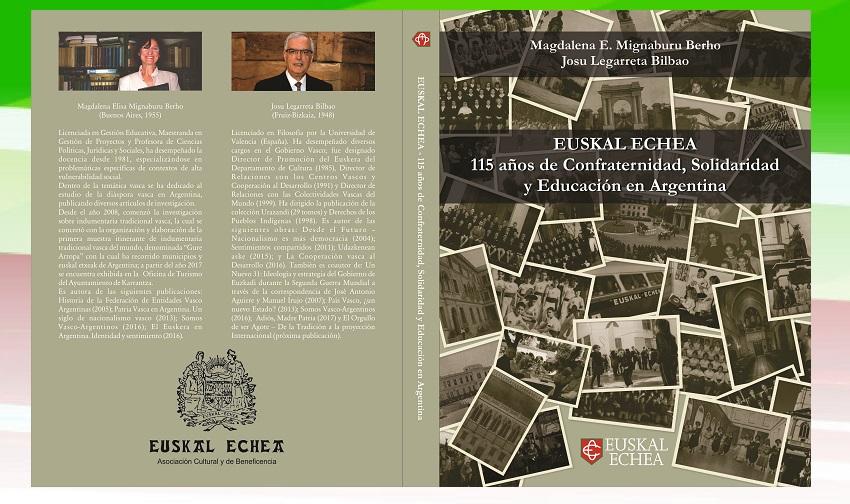 """Tapas del libro """"Euskal Echea. 115 años de Confraternidad, Solidaridad y Educación en Argentina"""""""