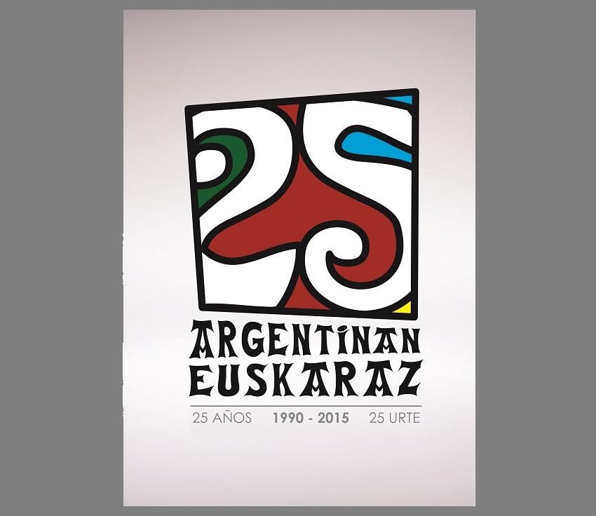 Argentinan Euskaraz programaren 25. Urteurreneko logoa