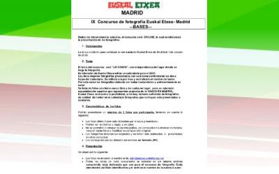 Photo contest organized by the Euskal Etxea in Madrid