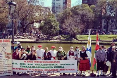 The Haize Hegoa Basque Club in Montevideo danced at the Rodo Park