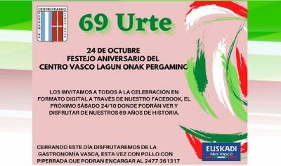 The Lagun Onak Basque Club in Pergamino celebrates its 69h anniversary