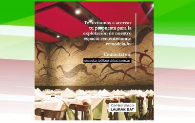 El Laurak Bat alquila su restaurante