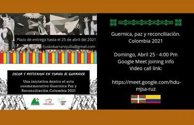 La propuesta vasco-colombiana invita a: colorear el Guernica de Picasso y reflexionar; reunirse online este domingo