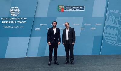 Gorka Alvarez Aranburu eta Beñat Matesanz Lehendakaritzan