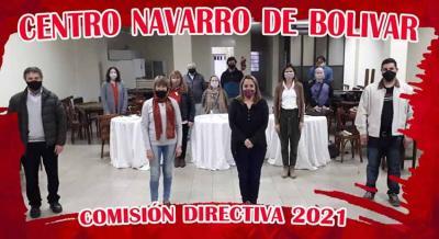 Mariana Sardón lehendakari berria Bolivarko Nafar Etxeko bere taldearekin