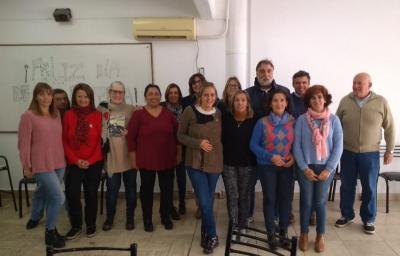 Board of directors at Euskal Lagunen Etxea in Venado Tuerto