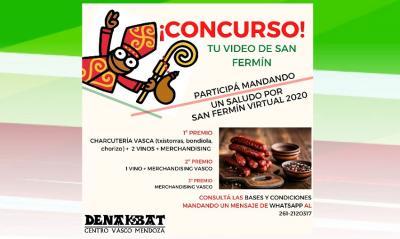"Video contest ""Virtual San Fermin 2020,"" at the Mendoza Basque Club"