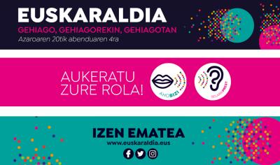 """2020ko Euskaraldia, """"Gehiago, gehiagorekin, gehiagotan"""""""