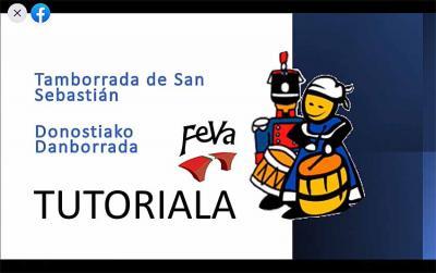 FEVAk Facebook bidez zabaldu duen Danborradaren tutoriala, Jose Gutierrez eta Jorge Rabuffetti danbor nagusien eskutik