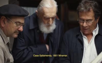 Luis A. Echegaray, Mikel Ezkerro eta Kepa Etchandy 'Gaucho Basko' pelikulan