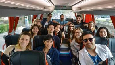 Participants in the Basque Government's Gaztemundu 2019 Program, a program for youth from Basque clubs around the world