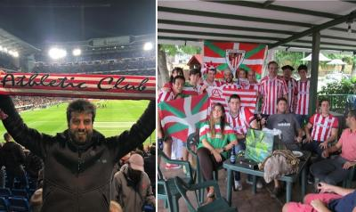 Iker Ruiz, at the stadium along with the Athletic Peña in Caracas