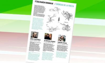 'Itzuleraren kronikak-Crónicas de la vuelta' Iñaki Echeverria, Alfosina Leranoz eta Sabrina Otegui euskal jatorrizko argentinarren proiektua