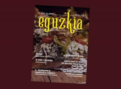 """Number 8 of """"Eguzkia,"""" the December 2019 edition of the magazine published by the Euzko Etxea in La Plata"""