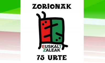 Logo created especially for Eusklatzaleak's anniversary by Mikel Urmeneta, one of the founders and creative director of the Kukuxumusu illustration factory