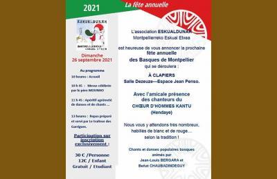th 2021 Euskal Peska in Motpellier will be this Sunday, September 26th