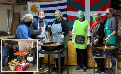 Haize Hegoa preparó el sábado 23 de mayo una paella solidaria