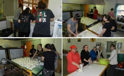 'Pizza Party' egin zuten barilochetarrek Bahia Blancara bidaiatu ahal izateko