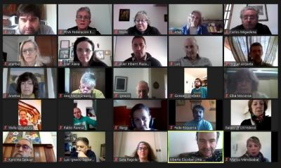 1st virtual meeting of Basque clubs and federations in Central and South America