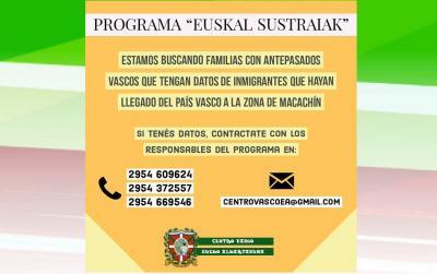 Macachingo Euskal Etxearen 'Euskal Sustraiak: En busca de raíces vascas' proiektua