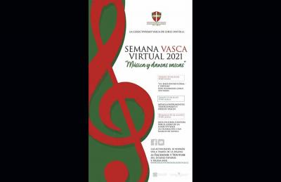 Banner of the Virtual Basque Week 2021, that will be carried out online for a second year in a row