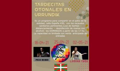 """Autumn Afternoons at Urrundik"" beginning on Sunday, April 18th"